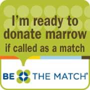 January sign-up to be a bone marrow donor is free! They send you a kit and you cotton-swab your mouth and your done! Please consider being a bone marrow donor! I joined!