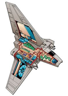 Star Wars Imperial Shuttle for Topps by Byron Taylor - www.byrontaylor.com - Fine Art blog at http://btsculptor.blogspot.com/
