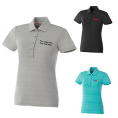 "Customized Women's Puma Golf Short Sleeve Striped Polo Shirts: Available Colors: Black, Blue Atoll, Limestone. Product Size: XS, S, M, L, XL, 2XL. Imprint Area: Centered on Left Chest 2.00"" H x 4.00"" W. Carton Weight: 25.3 lbs. Packaging: 55. Material: Polyester, Spandex Jersey. #custompumashirt #promotionalproduct #shortsleeve"