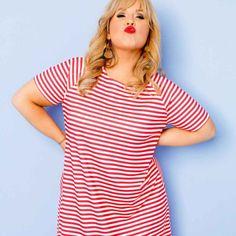 Maite Kelly, Mode Inspiration, Pink, Stripes, Celebs, Tops, Style, Fashion, Women