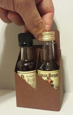 10 Mini Liquor Bottle Holder 4 Pack Carrier