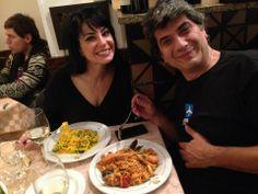 """Lizette con tonnarelli gamberi e zucchine, e Angelo con tonnarelli allo """"scoglio"""""""