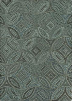 9 x 13 Azure Bluet Pine Green  Charcoal Gray Hand Tufted Wool Area Throw Rug *** You can find more details by visiting the image link. (Amazon affiliate link)