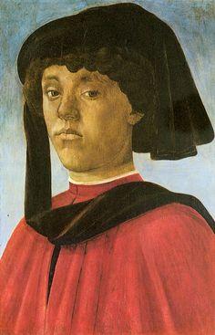 Портрет юноши (ок.1469) (51 x 33,7 см). Sandro Botticelli (1445-1510)