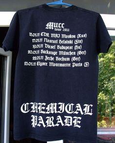 der t-shirt CHEMICAL PARADE THE MURR European tour 2011 men's unisex Small