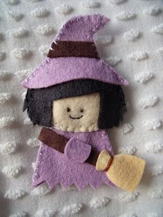 Halloween finger puppet--little witch---Dandelion Wishes