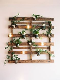 Pallet flower wall, wood decoration, reclaimed wood