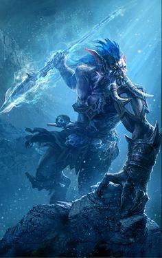 Troll Spearthrower by Zhou He