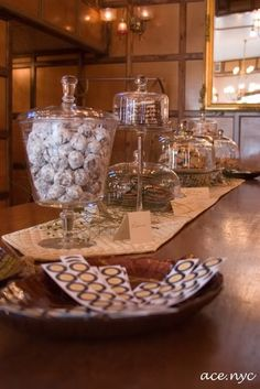 love the glass containers for our cookie table