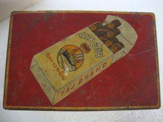 Vintage Rare Taj Brand Cigarette Litho Print Tin Box #Morton