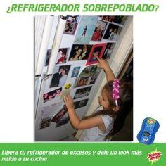 Cambia de lugar las fotos y tarjetas que tienes en el refrigerador. Limpialo continuamente y veras como deslumbra en tu cocina. Usá tu esponja ScotchBrite® Cero Rayas® que lo limpiará sin dañarlo usando un poco de agua.