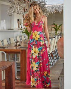 36 Beautiful Womens Floral Dresses Ideas For Spring Summer - Best Prom Dresses, Cute Summer Dresses, Lovely Dresses, Casual Dresses, Fashion Dresses, Dress Robes, Dress Skirt, Tropical Dress, Floral Print Maxi Dress