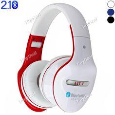 at-bt808 складные беспроводных Bluetooth v2.1 + эпд стерео - гарнитура звукоизолирующие поддержка FM TF карты W / впк EEP-406125