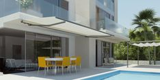 Stein Folding Arm Awning - Under Eave by Inspired Window Coverings