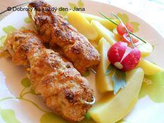 Recept Kuřecí hermelínové špízy - Naše Dobroty na každý den   Recepty online Tandoori Chicken, Tasty, Meat, Ethnic Recipes, Worcester