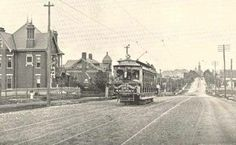 Nashville Tennessee View of West End Avenue circa 1890-1900