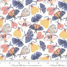 """Yellow 42/"""" Wide Butterfly Print Cotton Fabric For Sewing Material Supply By mtr"""