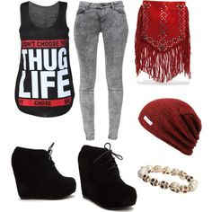 """""Thug Life"" Outfit"" by allyrose17 on Polyvore"