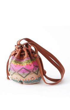What a super bag, love the colors and pattern.