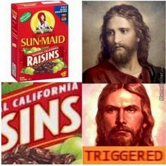 Christian humor, triggered