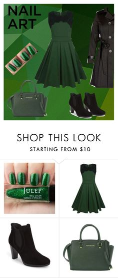 """""""Untitled #148"""" by stargirl234 ❤ liked on Polyvore featuring beauty, WithChic, Paul Green, MICHAEL Michael Kors, City Chic and nailedit"""