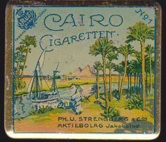 Finnish Tobacco Cairo, Altered Tins, Vintage Tins, Tin Signs, Egyptian, Life Is Good, Lunch Boxes, Antiques, Laughing