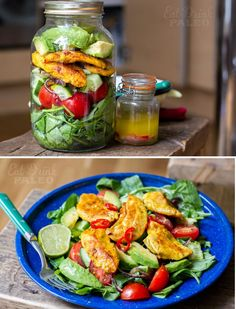 Grilled Moroccan chicken  avocado salad with lime  chilli dressing  #EatDrinkPaleo
