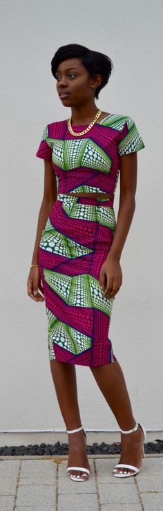 African Print Dress / Fashion By Style By Alexandrah