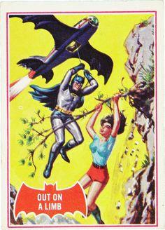 Norm Saunders & Bob Powell - Batman Trading Card Series 2 #13A (Topps 1966)