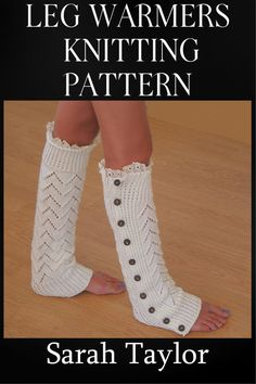 Knitting PATTERN  Leg Warmers  Instant by SarahTaylorDesigner