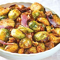 Roasted Brussels Sprouts with Tomato Pesto & Walnuts - Wegmans