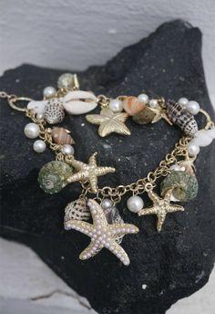 Conch Starfish Pearl Necklace - Accessory - Retro, Indie and Unique Fashion I love charm bracelets Gemstone Jewelry, Jewelry Box, Jewelery, Jewelry Accessories, Jewelry Design, Beaded Jewellery, Jewelry Ideas, Diy Jewelry, Unique Fashion