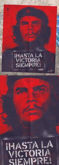 Art Print #CheGuevara ¡Hasta La Victoria Siempre!, Cuban Revolution Poster With Iconic Photograph Of Che Guevara, By Alberto Korda