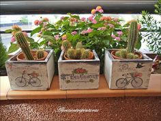 Pin on wood crafts & signs Foto Transfer, Painted Clay Pots, Decoupage Vintage, Decoupage Wood, Country Paintings, Pastel Floral, Terracotta Pots, Container Plants, Plant Holders