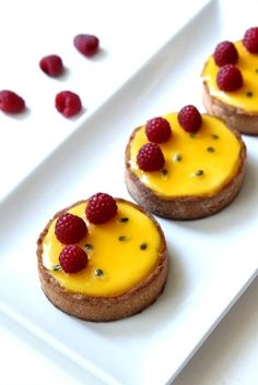 Pierre Herme's Passion Fruit and Raspberry Tart