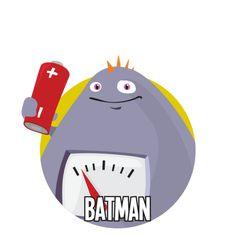 Bild på Batman i en rund cirkel