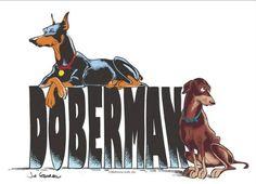 #Doberman art