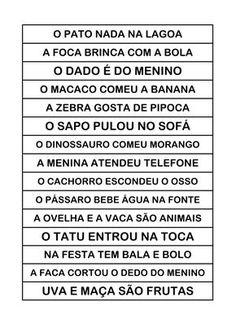 Atividades para o ensino infantil: Frases com enigmas Portuguese Lessons, First Grade, Professor, Literacy, Homeschool, Classroom, Social Media, Education, Gabriel