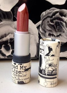TheBalm Letter to the Editor lipstick.  Swatched.  $8