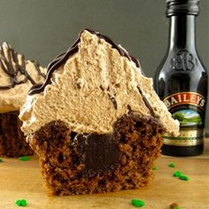 Mocha Irish Cream Cupcake for Two by beyondfrosting