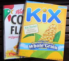 ~ S.C.R.A.P. ~ Scraps Creatively Reused and Recycled Art Projects: Cereal boxes