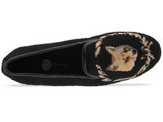 Embroidered fox loafers