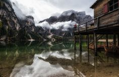 Catching the moment - Lago di braies (III):  A cold and rainy morning at the lago di braies in South Tyrol. Nevertheless the beauty of this place was impressive and the weather made this lake even more magical.
