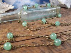Mystical Bohemian Necklace - long - layering - green aventurine stone - SALE http://www.mysoulcandance.etsy.com