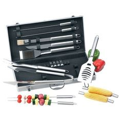Chefmaster 19pc All Stainless Barbeque Set Surgical Stainless Steel Implements Long Handle Tools by Chefmaster. $46.95. Gift boxed.. Chefmaster 19pc All Stainless Barbeque Set.. Limited lifetime warranty.. Features surgical stainless steel implements, long handle tools with handy hang-up design and an aluminum carrying case that doubles as an executive style briefcase.. Chefmaster 19pc All Stainless Barbeque Set Surgical Stainless Steel Implements Long Handle Tools