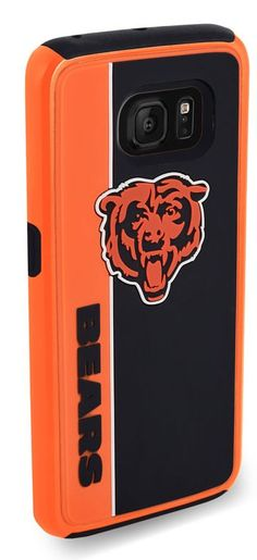 Forever Collectibles Dual Hybrid BOLD Series Case for Samsung Galaxy S7 Edge - NFL Chicago Bears - (A Grade)