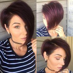 #shorthair #nothingbutpixies #asymmetrical #bob #pixie #violethair