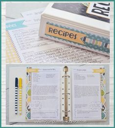 RECIPE BINDER Printables FULL Size by mycomputerismycanvas