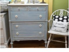 Pretty Annie Sloan Chalk Paint Dresser from the Purple Painted Lady!
