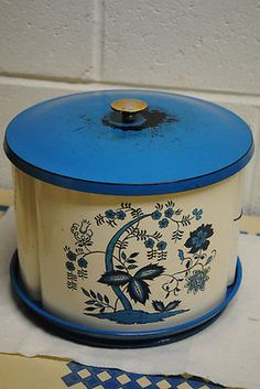 vintage lazy susan and canisters on eBay from missrubyb